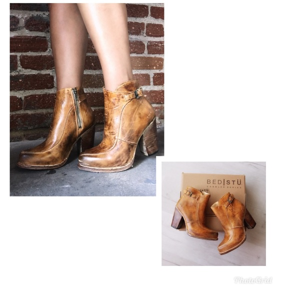 78dcaa3f75ee Bed Stu Isla tan rustic leather boots -LIMITED QTY